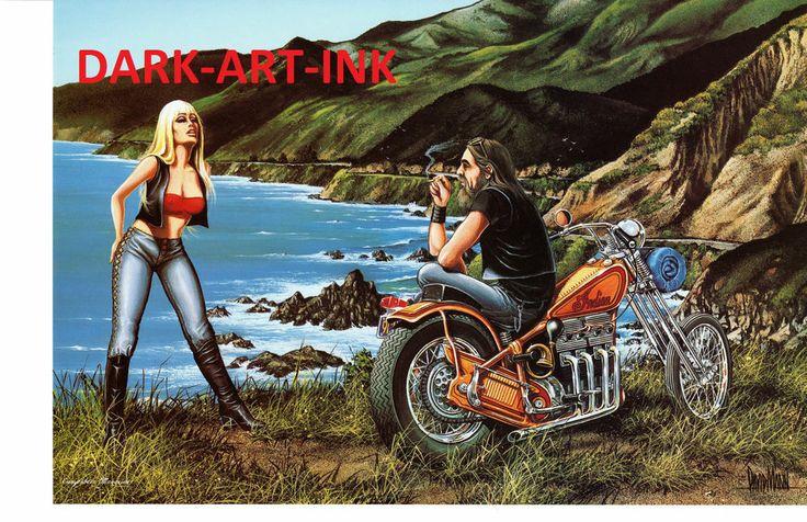 David Mann Art Easyriders   David Mann Art Oh My Aching Print Easyriders Harley Davidson Pacific ...