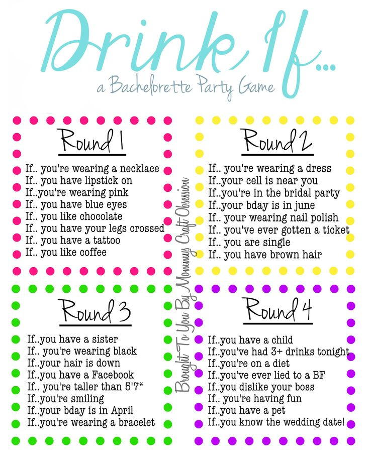Drink If… A Bachelorette Party Game {Free Printable} - Mommys Craft Obsession