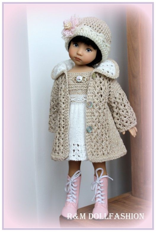 """R&M DOLLFASHION - TREASURE LINE OOAK outfit for Effner LITTLE DARLING 13"""" doll"""