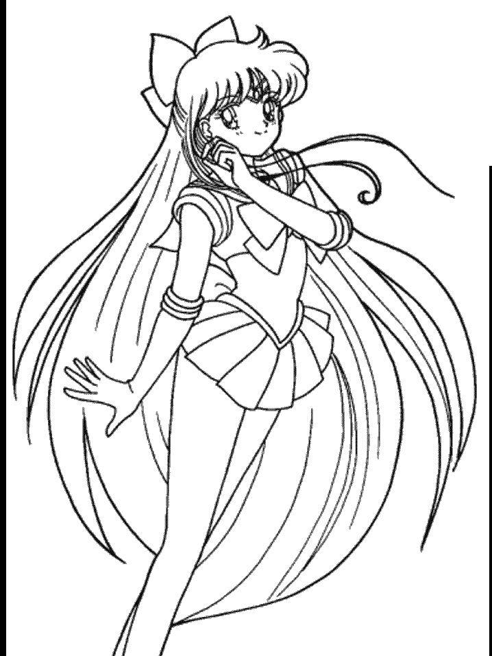 17 best images about coloring pages on pinterest sailor for Sailor venus coloring pages