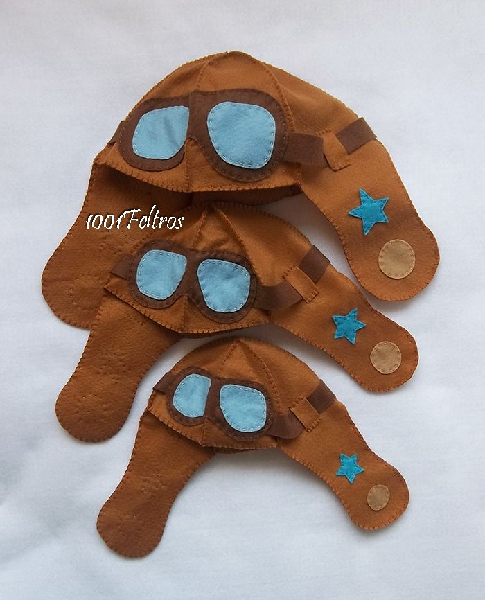 1001 Feltros: Chapéu aviador em três tamanhos