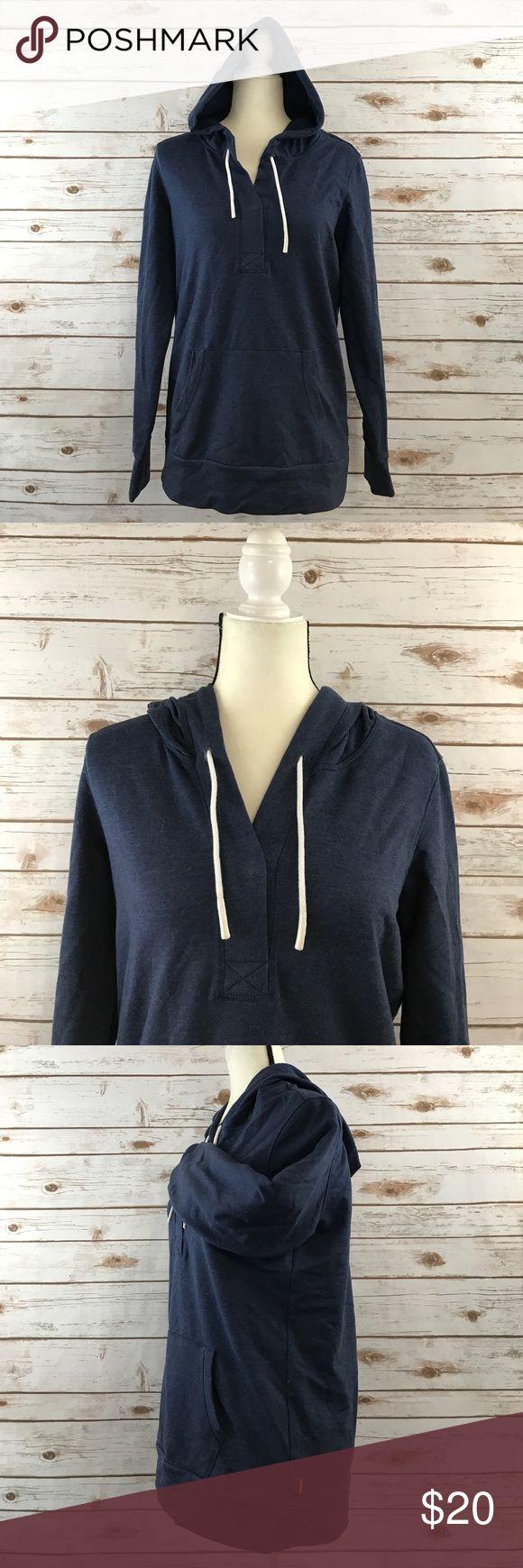 Lucy Athletic Hooded Blue Sweatshirt This is a Lucy activewear Hooded Blue sweater in a size medium. This sweatshirt is a heathered blue color with a kangaroo pocket in the front. It is in like new co diction and has a lot of stretch. Thanks! Lucy Sweaters