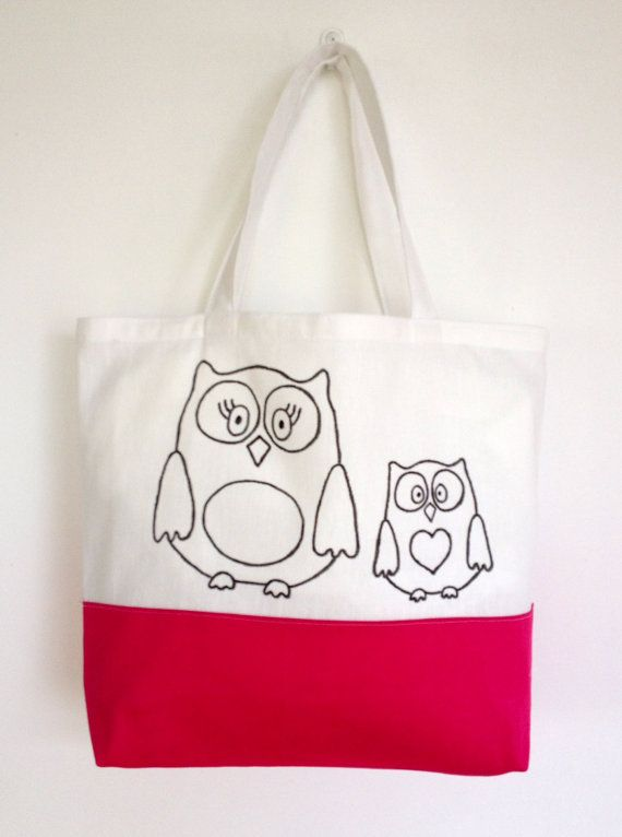 Colouring In Owl Themed Tote Bag  Black & White by SimplyAddColour