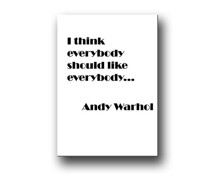 I think everybody should like everybody - poster & canvastavlor.