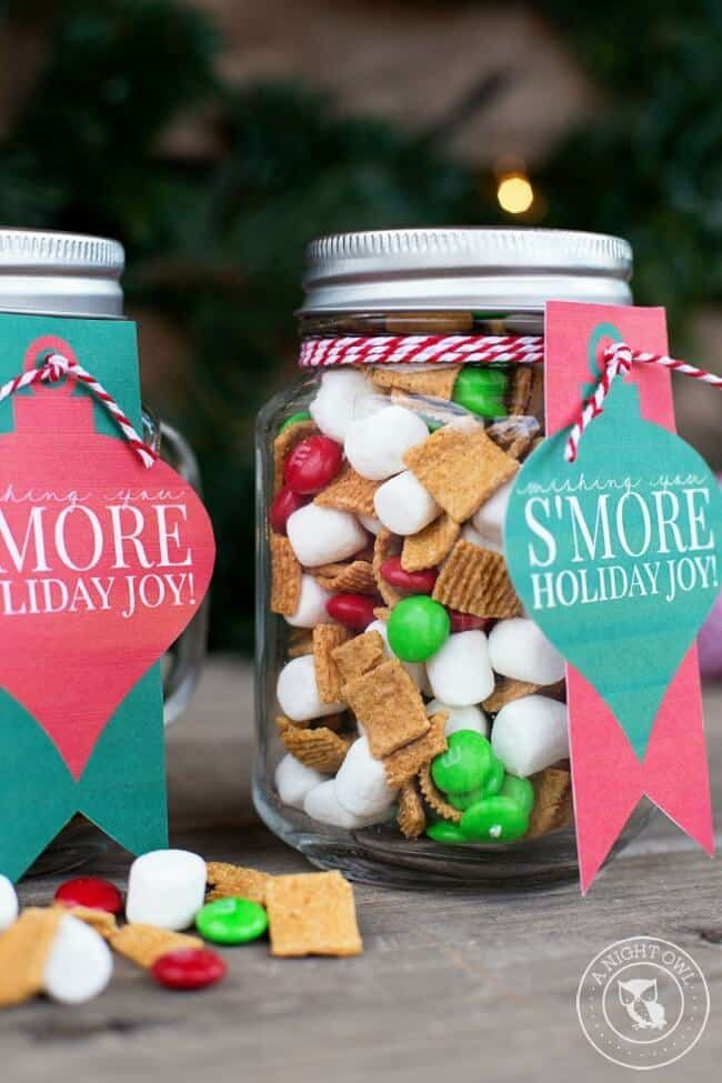 Smores Mason Jar By A Night Owl Blog And Other Super Cute Mason Jar Gift For Christmas Mason Jar Christmas Gifts Mason Jar Gifts Neighbor Christmas Gifts
