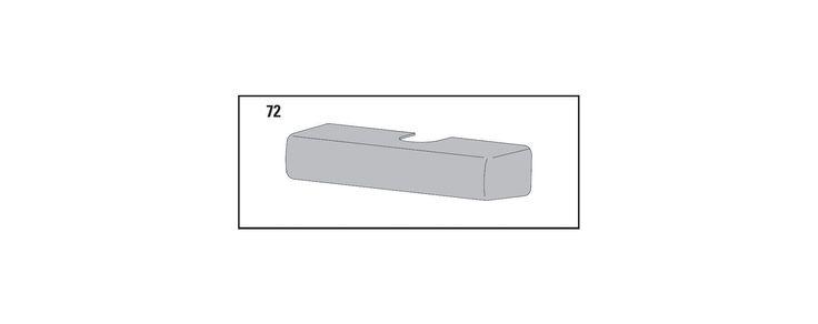 LCN 1260-72 Slim Line Standard Plastic Cover for 1260 Series Door Closers Dark Bronze Part Door Closer Parts Cover