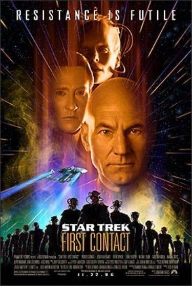 STAR TREK 8: FIRST CONTACT-1996 -original 27x40 REG movie poster PATRICK STEWART
