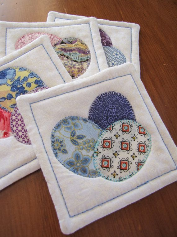 46 best coasters and mug rugs images on pinterest mug rugs easter coasters quilted coasters set of four by qpcc on etsy negle Gallery