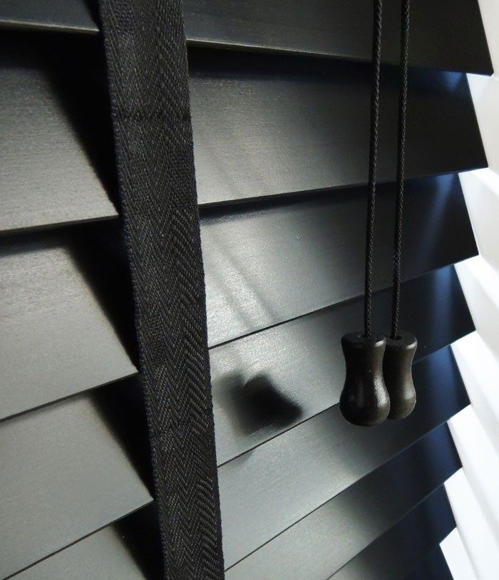 Ocerti Designer Black with Tapes Venetian Blind | Ocerti