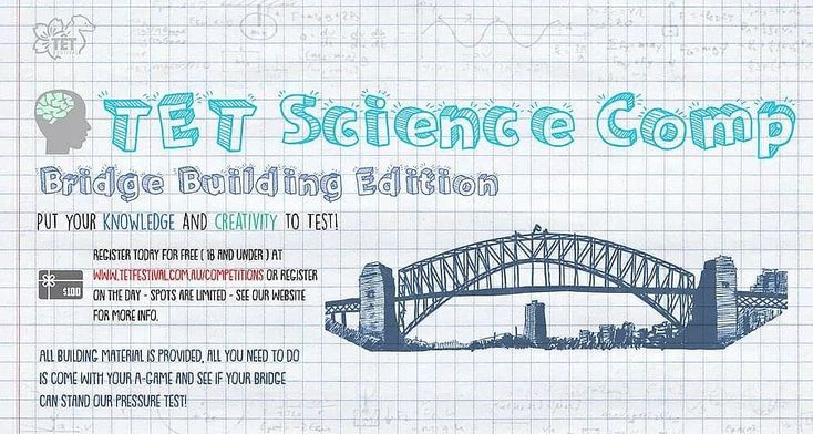 Calling all budding designers and engineers out there! We will be holding a Kids Bridge Building Science Competition at the festival.  Participants get 1 hour to design and build a bridge from provided materials. There are many prizes to be won!  To apply please visit our website: https://www.tetfestival.com.au/tet-science-competition  #tet #festival #2018 #year #of #the #dog #competition #prizes #bridge #building #construction #science