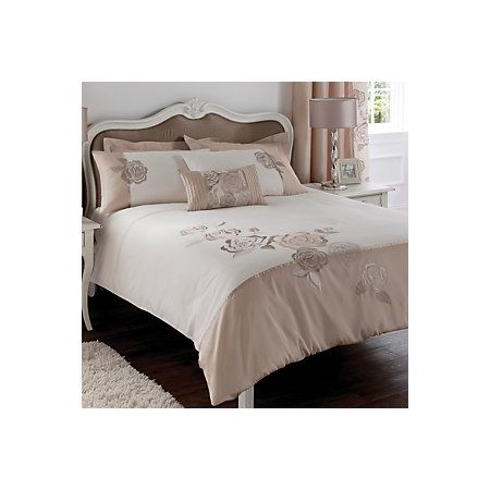 Chartwell Rosa Floral Pink & White Double Bed Cover Set | Departments | DIY at B&Q