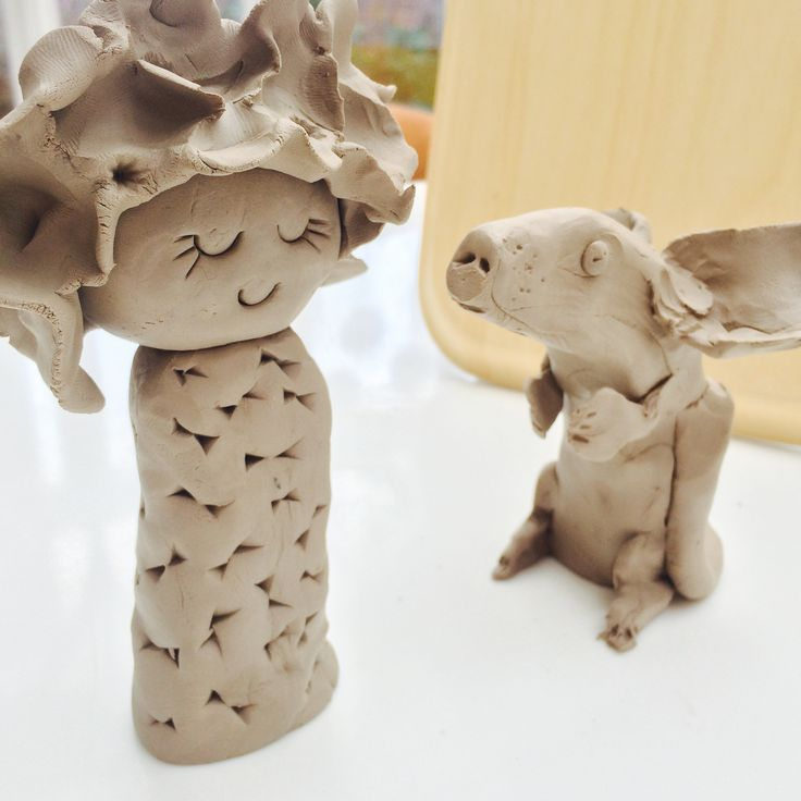 Claire Paveley ceramic art girl and mouse rat