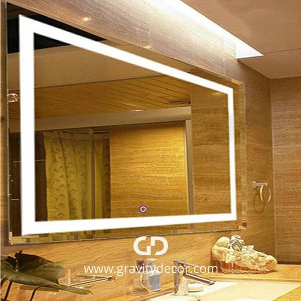 OPENING NIGHT - Large Rectangular Wall Mounted Vanity Mirror With LED Lighting: To find out more details about LED vanity mirror options as well as other great ideas on interior design and decoration, take a look at Gravity Décor's website.