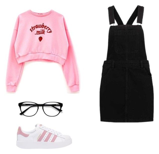 """""""Untitled #1"""" by lazerbaby14 ❤ liked on Polyvore featuring adidas Originals and EyeBuyDirect.com"""