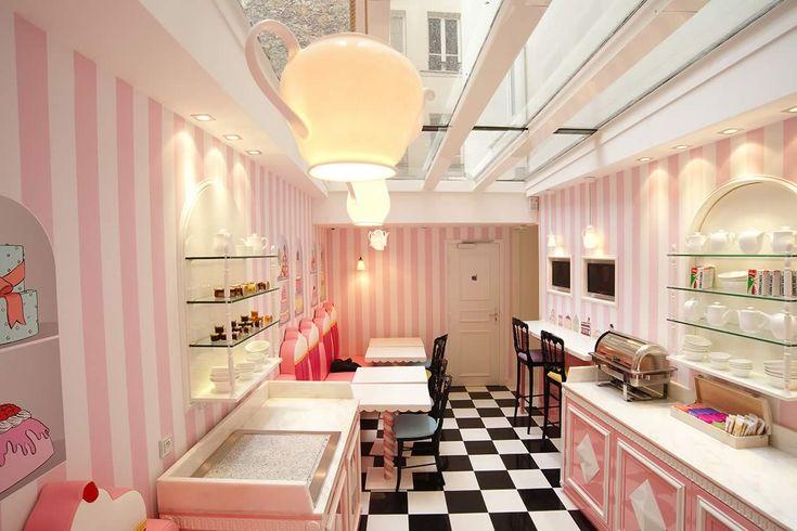 Teapot pendant by Original BTC at Vice Versa Hotel Paris, France designed by Chantal Thomass