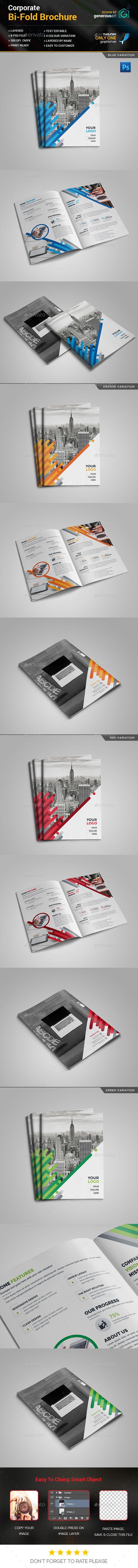 Business Bi-Fold Brochure Template PSD. Download here: http://graphicriver.net/item/business-bifold-brochure/16689167?ref=ksioks