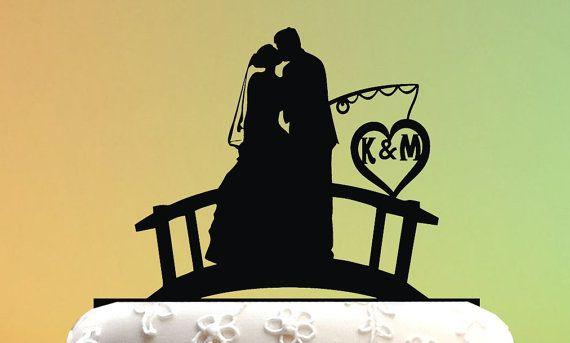 fishing Wedding Cake Topper / Love Wedding Cake by weddingdecor555