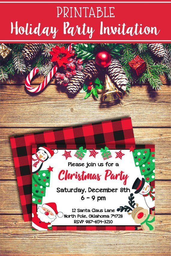 Christmas Party Invitations Christmas Printables Christmas party