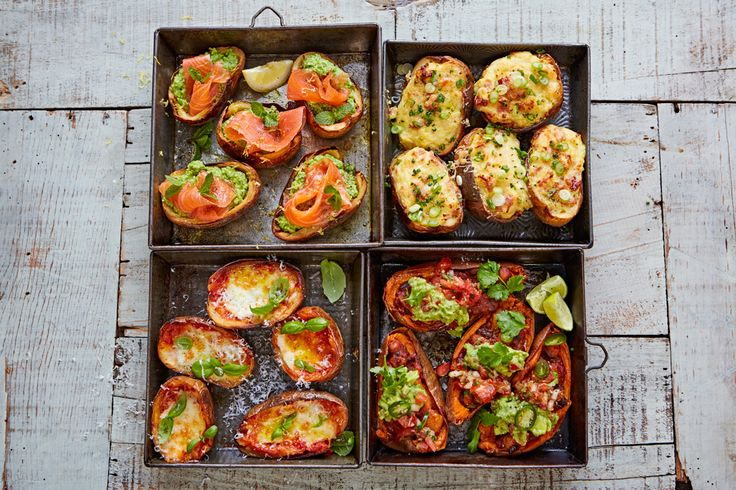 Crispy potato skins packed with a naughty cheesy filling are a classic, super-easy to prepare and can be scaled up or down depending on who you're feeding.