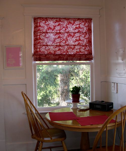 Kitchen Window Treatments. Fabric BlindsCurtainsRed ...