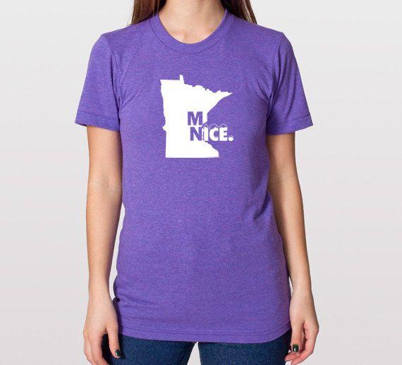 Minnesota Nice TShirt  Unisex & Womens Tee by SevenMilesPerSecond,