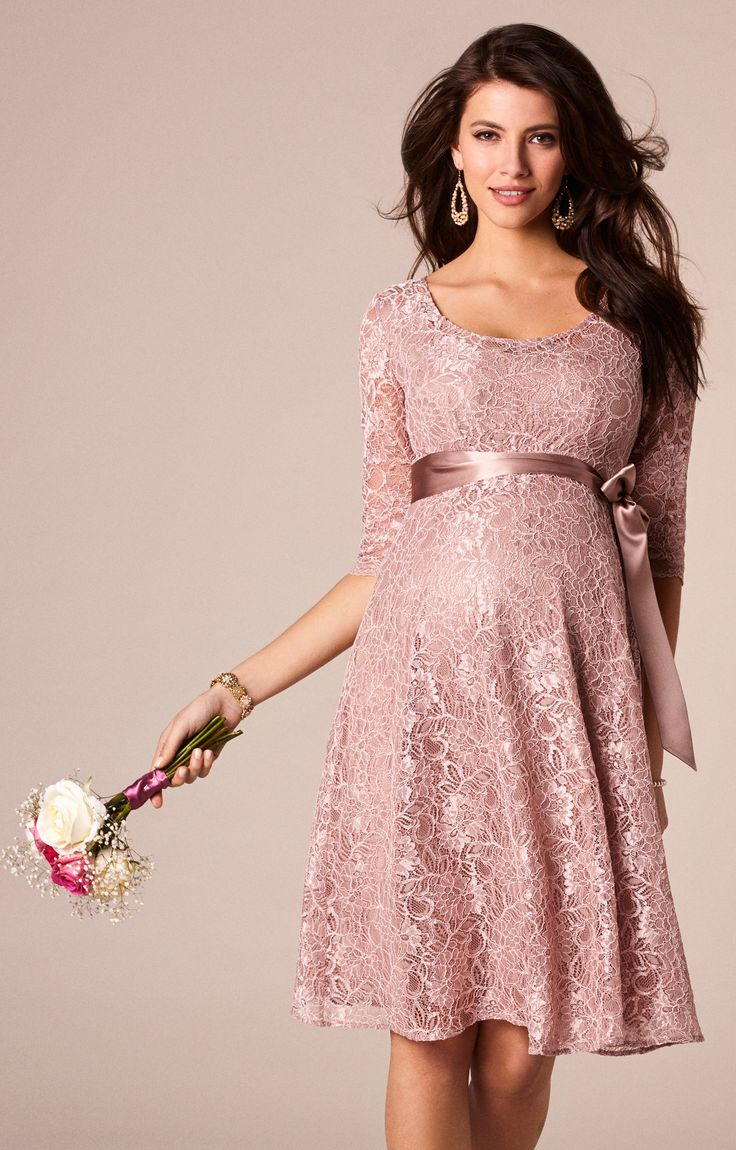 Freya Maternity Dress Short Orchid Blush - Maternity Wedding Dresses, Evening Wear and Party Clothes by Tiffany Rose.