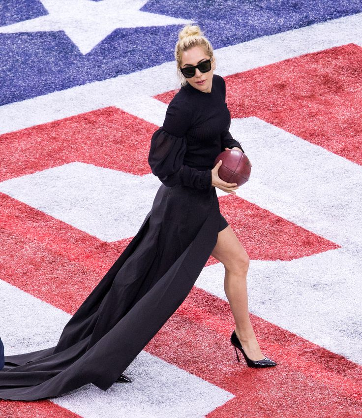 Lady Gaga Struts Her Stuff on the Field Before Her Super Bowl Halftime Performance Dave Clements/SipaUSA