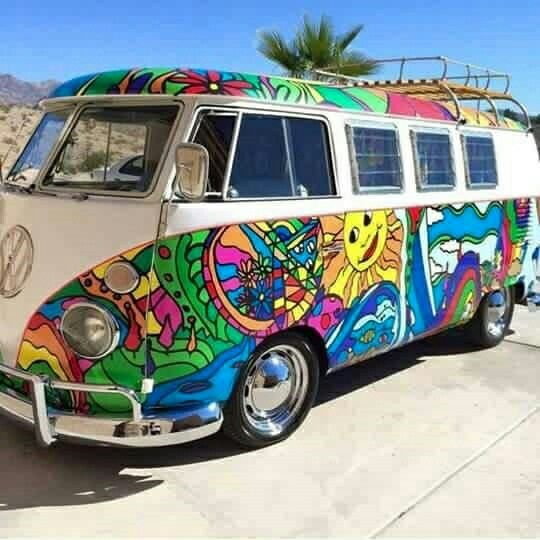 Hippie Kombi VW bus