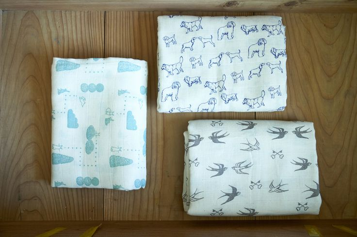 soft, light and airy organic muslin wraps, great for swaddling baby.