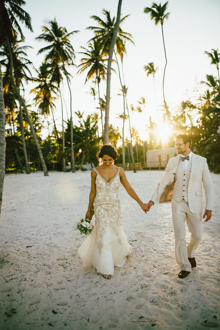 Photography : ShoeBox Photography Read More on SMP: http://www.stylemepretty.com/destination-weddings/2014/09/01/vintage-bohemian-beach-wedding-at-jellyfish-punta-cana/