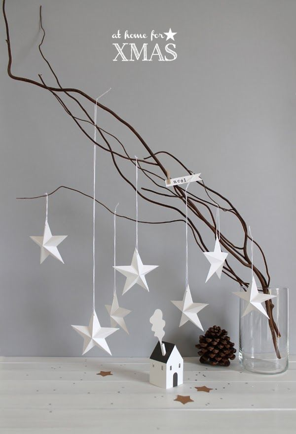 3d paper stars DIY #christmas #decoration #living