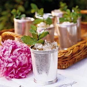 Classic Mint Julep | MyRecipes.com: Kentuckyderby, Fun Recipes, Crushes Ice, Summer Drinks, Mintjulep, Cocktails, Mint Julep, Derby Parties, Kentucky Derby