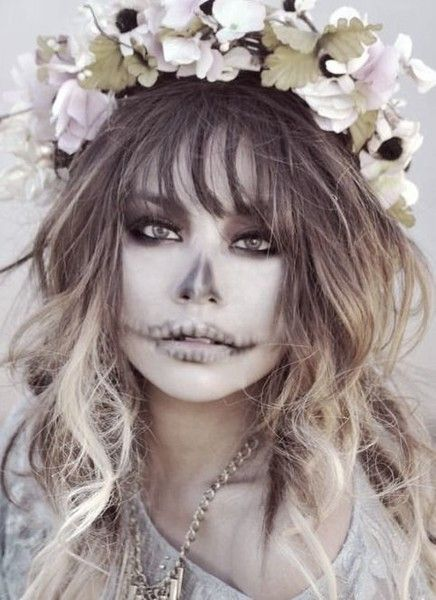Pretty Phantom - Celebrate Day of the Dead With These Sugar Skull Makeup Ideas - Photos
