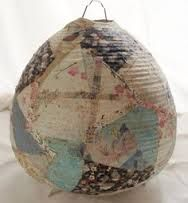 Image result for paper mache light shade