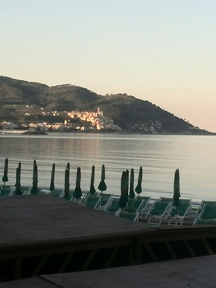 Golfo di Diano Marina Imperia Liguria Italy in lontananza Cervo