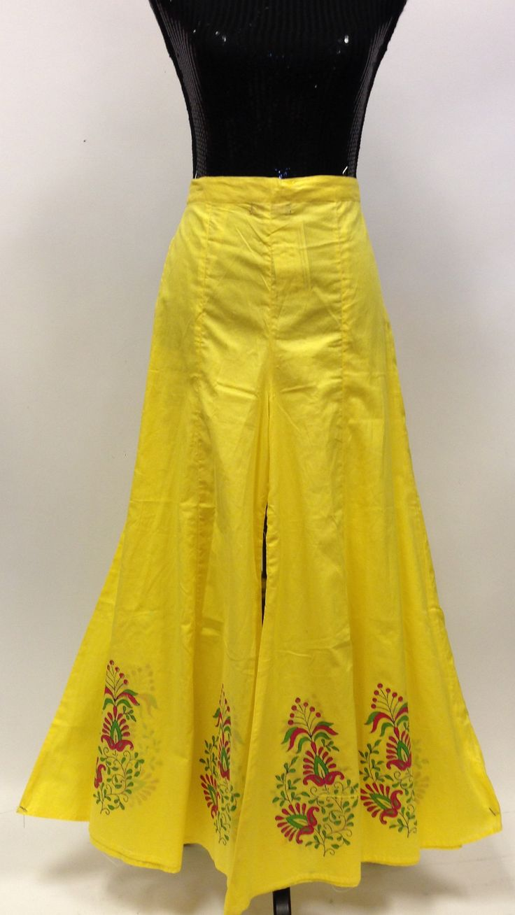 Long Divided Skirt / Pants - Yellow