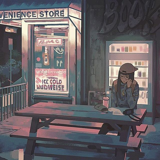 Convenience Store  . . #digitalart #animestyle #animesketch #animedrawing #animegirl #photoshop #digitalillustration #animeart #painttoolsai #wacom #deviantart #mangastudio #drawmanga #drawanime #sai