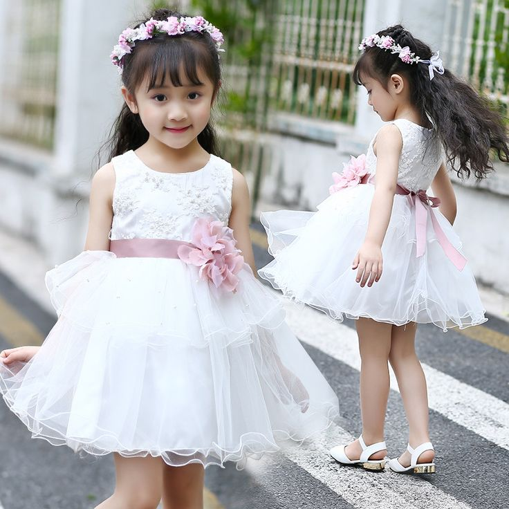 >> Click to Buy << layered mesh 2017 summer flower little girl dress princess party dresses for girls lace beading children dresses for dancing  #Affiliate