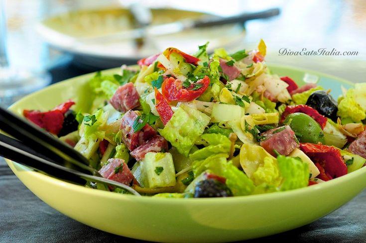 Chopped Antipasti Salad #Italy #food #recipe #italian