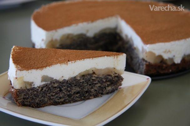 Makovo-jabĺčková torta so škoricou
