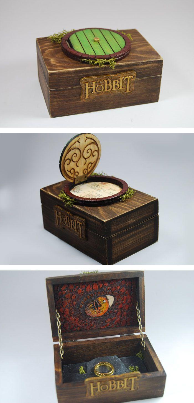 The Hobbit Ring Box - Verlobung Hobbit Art. Ein Ring, sie für immer zu knechten. In eine Ehe zu führen und ewig zu binden.