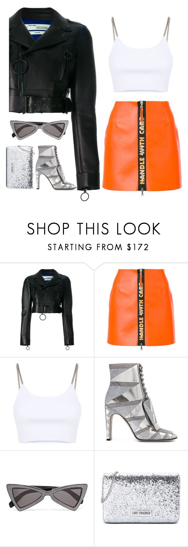 """""""Hmmm"""" by catmlnguyen on Polyvore featuring Off-White, Heron Preston, Alexander Wang, Sergio Rossi, Yves Saint Laurent and Love Moschino"""