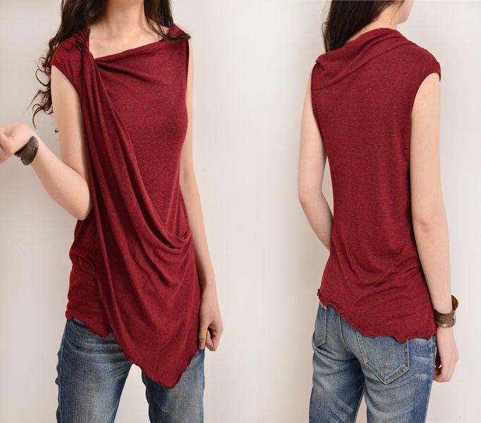 T-Shirts mit Applikation - Mein Zen 2 - Drapieren Schein (Y3112) - ein Designerstück von idea2lifestyle bei DaWanda
