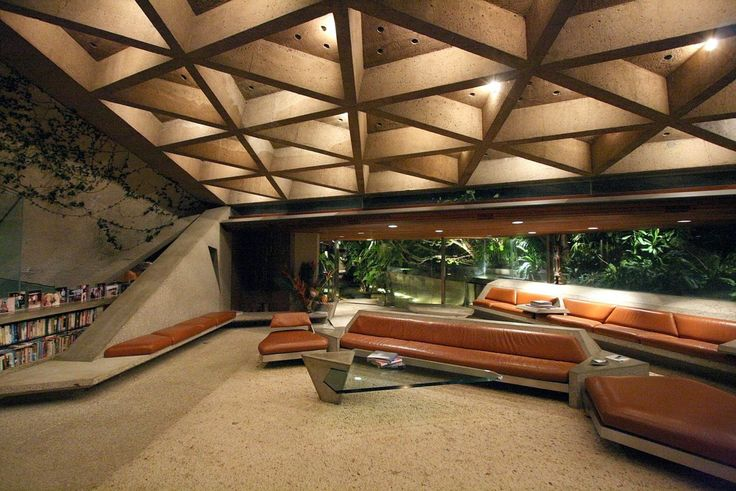 John Lautner. The Sheats-Goldstein House in Los Angeles otherwise known as Jackie Treehorn's house in the Big Lebowski!