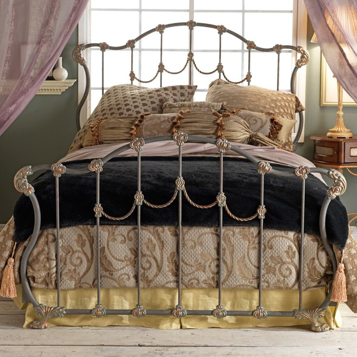 hamilton iron headboard by wesley allen textured copper moss finish - Metal Bed Frames Full