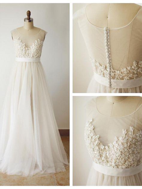 A-Linie Übergrößen / Extraklein Hochzeitskleid - Schick & Modern Farbige…