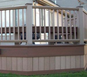 Fascia With Vertical Board Deck Skirting Deck Ideas