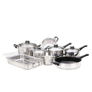 Hampton & Mason Homeware - Briscoes - Hampton & Mason 8 Piece Starter Cookware Set