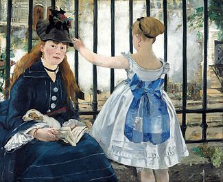 Édouard Manet, LA FERROVIA, 1873, 93 cm x 1,12 m, Colore ad olio, National Gallery of Art, Washington