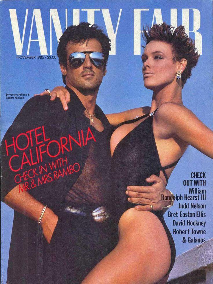 Vanity Fair magazine, November 1985 — Sylvester Stallone & Brigitte Nielsen